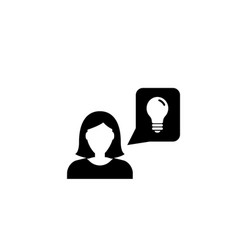 business woman idea flat icon vector image