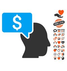 Businessman idea icon with lovely bonus vector