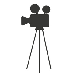 camera film movie isolated icon vector image