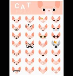Cat emoji icons 2 vector