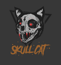 cat skull bloody vector image