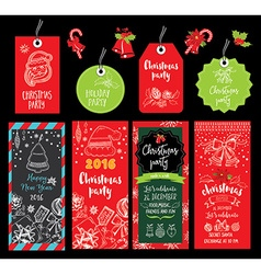 Christmas party invitation Holiday card vector image