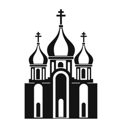 Church building icon in simple style vector image