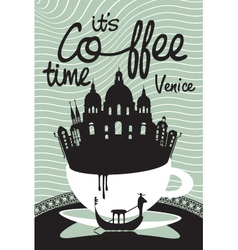 Coffee on Venice vector