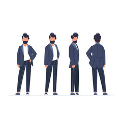 collection of turning various male poses vector image