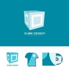 Cube 3d logo icon design vector