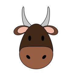 Cute bull design vector