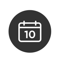 date icon isolated on white background date icon vector image