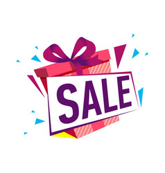 discount gift sales isolated sticker vector image