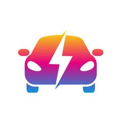Electro car colorful icon trendy car logo vector