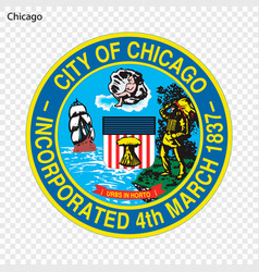 Emblem of chicago vector
