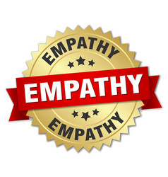 Empathy round isolated gold badge vector