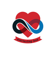 Eternal love conceptual sign symbol created with vector