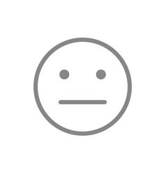 Expressionless emoji line icon emotionless vector