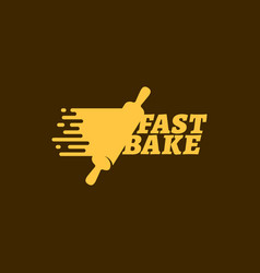 Fast bake logo vector