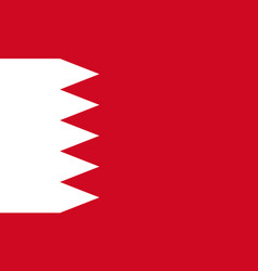 flag of bahrain national symbol of the state vector image