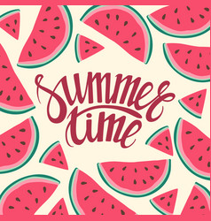Frame background card summer time seamless vector
