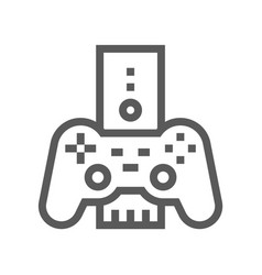 game console electronic devices line icon vector image