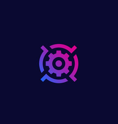 gear and target logo icon vector image