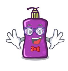 Geek shampo character cartoon style vector