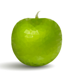 green apple fruit in origami style vector image
