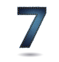 Jeans alphabet letters number 1 modern template vector