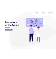 laboratory future banner template with vector image