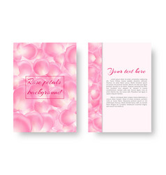 leaflet with soaring rose petals vector image