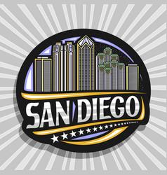 Logo for san diego vector
