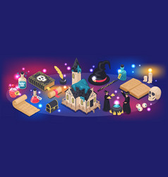 Magical isometric narrow vector