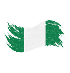 National flag of nigeria designed using brush vector