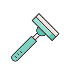 Personal care product razor filled outline icon vector