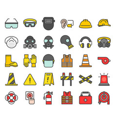 Personal protective equipment and firefighter vector