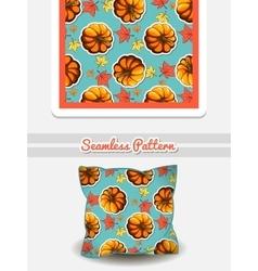 Pillow Autumnal Pumpkin vector image