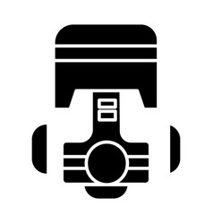 piston repair car engine icon vector image