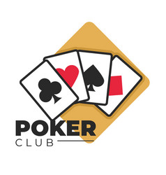 poker club gambling and casino games play cards vector image
