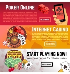 Poker online gaming lottery internet casino vector image
