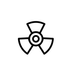 propeller line icon in flat style for apps ui vector image