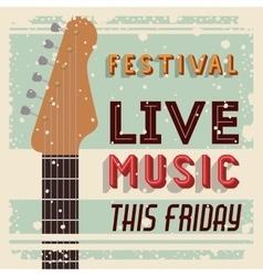 Retro music festival poster isolated icon design vector
