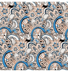 Seamless abstract hand-drawn pattern steampunk vector image