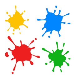 Set colored blots on white vector
