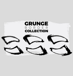 set of grunge shapes banners abstract shapes big vector image