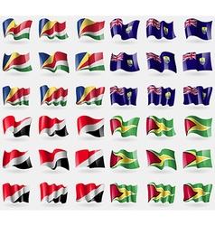 Seychelles Saint Helena Sealand Principality vector image