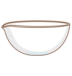 Single glass bowl on white background vector