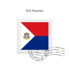 Sint Maarten Flag Postage Stamp vector