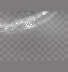 snow and wind vector image