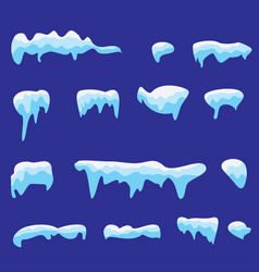 snow caps vector image