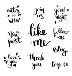 social network follow me banner designs set vector image