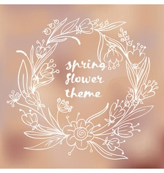 Spring flower theme vector
