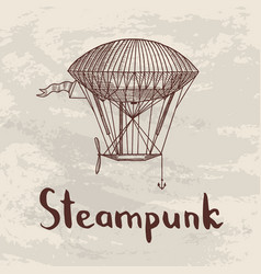 steampunk hand drawn airships vector image